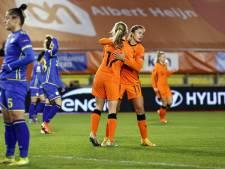 Oranjevrouwen ruim langs Kosovo in EK-kwalificatieduel om de eer
