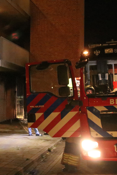 Brand in Edes trappenhuis is aangestoken