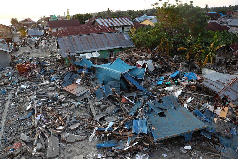 De verwoesting in Palu.