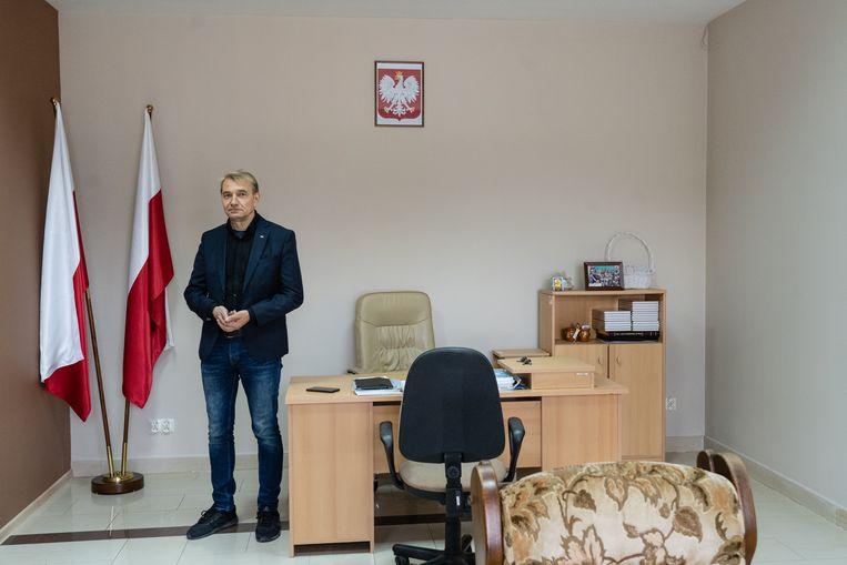 Parlementskandidaat Jerzy Bielecki van de PiS partij. Beeld Piotr Malecki