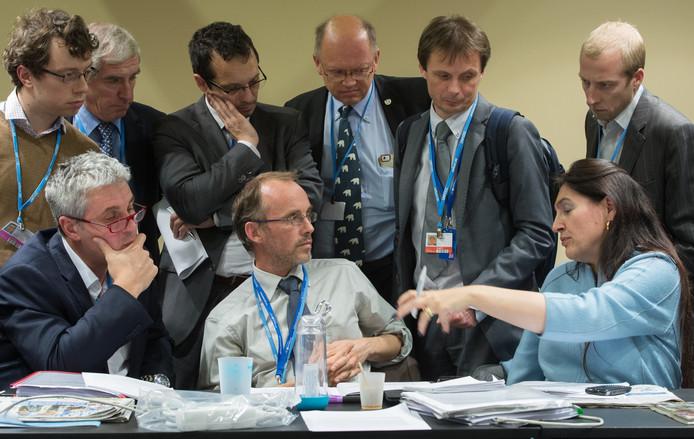 Beeld van de klimaatconferentie in Parijs, een jaar geleden.