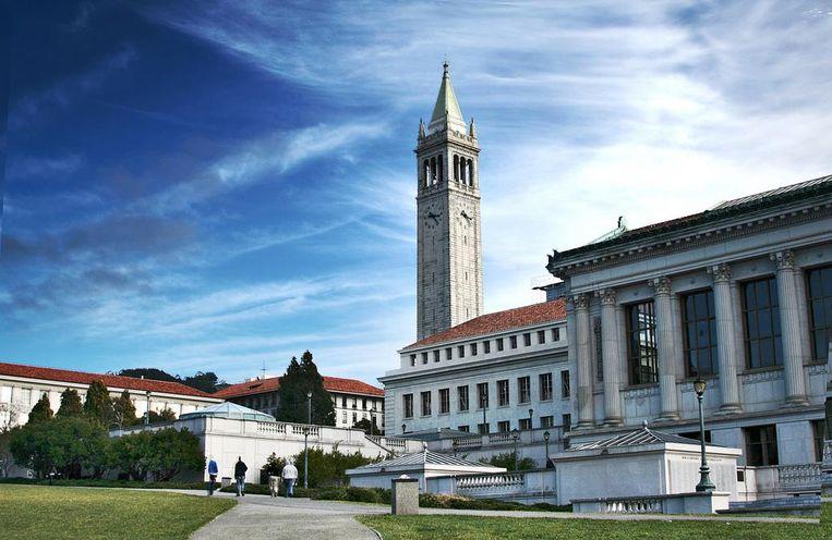 De universiteit in Berkeley, Californië. Illustratiebeeld