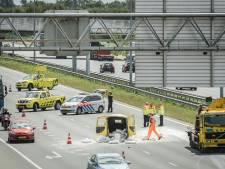 A2 tussen Culemborg en Utrecht weer vrij na ongeval met kalk op de weg
