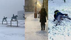 VIDEO. Sneeuwzone trekt over heel Vlaanderen
