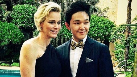 Eric Tse met prinses Charlene van Monaco.