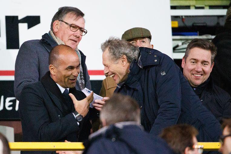Vorige maand gespot op de tribune van Club: de huidige bondscoach en zijn gedroomde opvolger.