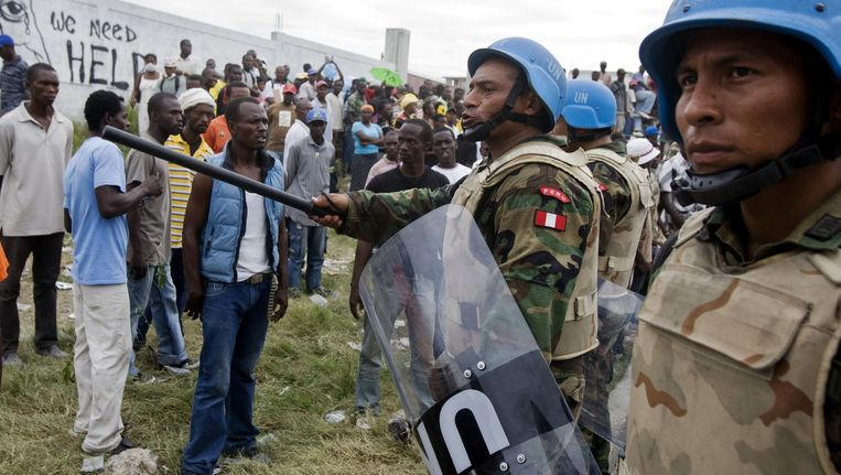 VN-soldaten op missie in Haïti.