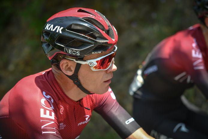 Froome tijdens de eerste etappe van de Route d'Occitanie.