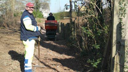 Nieuwe voetwegel om (uitgestelde) werken aan Vierwegen te omzeilen