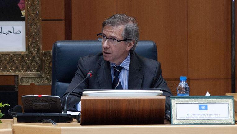 Bernardino Leon, de VN-bemiddelaar in het conflict in Libië.