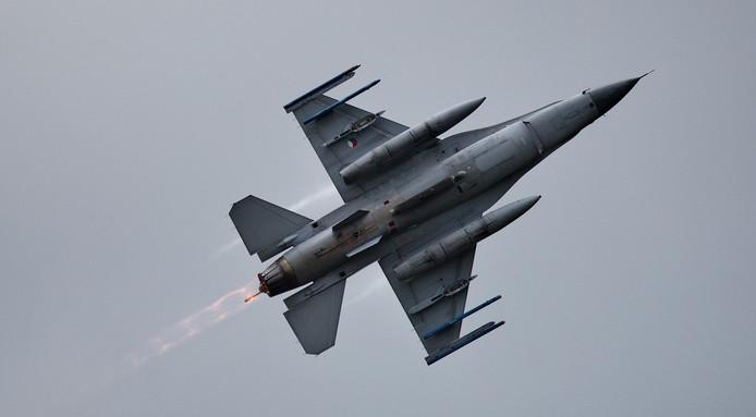 Een Nederlandse F16 in actie.