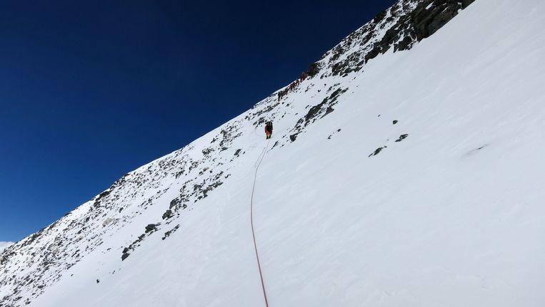 Wilson vertrok in april voor een tocht naar de top van de Dhaulagiri. Beeld anp