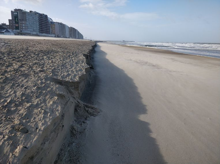 Kliffen op het strand van Blankenberge.