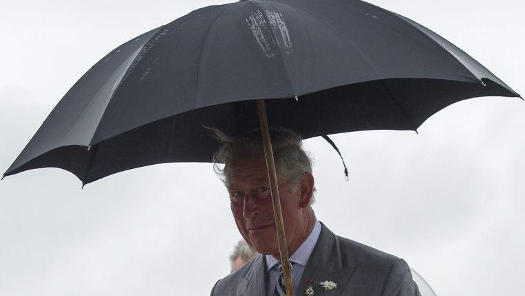 Prins Charles tijdens zijn bezoek in Canada.
