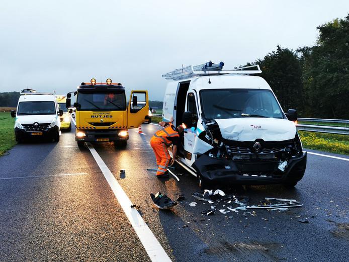 Op de A18 bij Doetinchem gebeurden donderdagochtend kort na elkaar twee ongevallen.