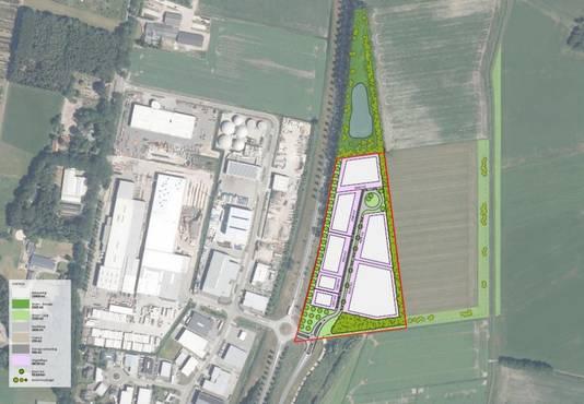 Nieuw bedrijventerrein bij Esbeek-Oost.