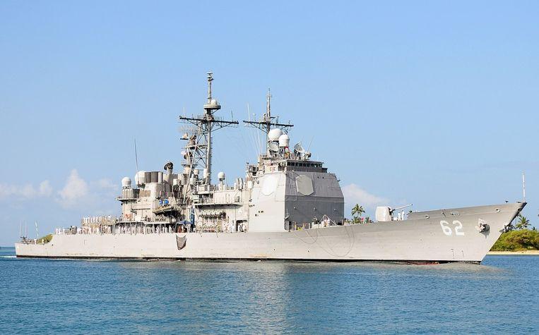 De Amerikaanse kruiser USS Chancellorsville .