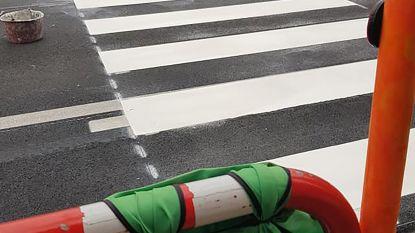 UPDATE - Daar zijn plots de schilders: dan tòch een zebrapad voor de school!