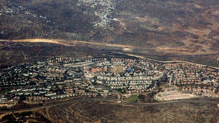Israëlische nederzetting op Palestijns land. Beeld AP