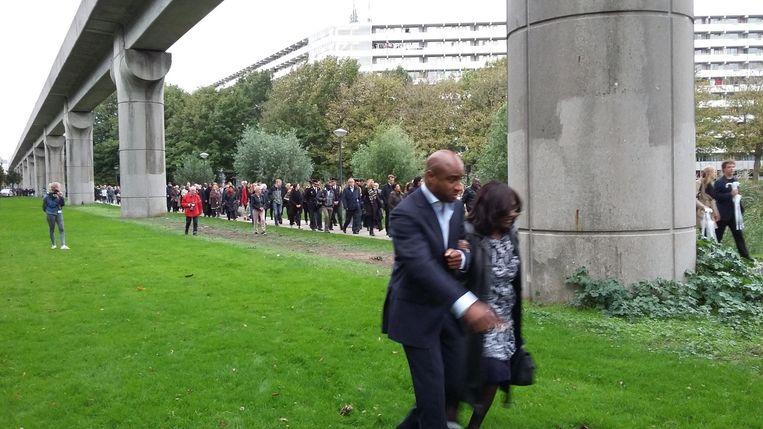 De stille tocht naar het monument Beeld Hanneloes Pen