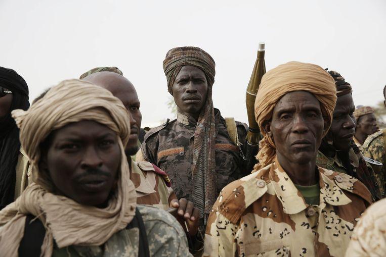 Militairen uit Tsjaad. Beeld ap