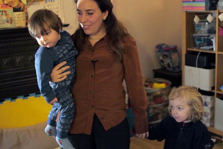 Julian Assanges partner Stella Moris met zijn twee zonen. Beeld Hollandse Hoogte / Camera Press Ltd