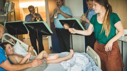 UZ-patiëntjes genieten van muziek aan bed