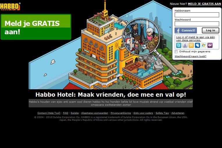 Screenshot van Habbo Hotel Beeld