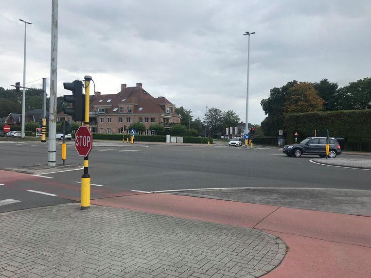 Het kruispunt aan de Kwakkelstraat.