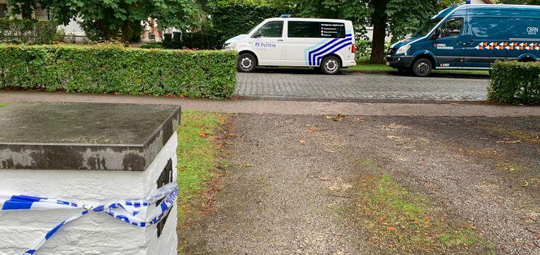 De brievenbus van Ellen Samyn werd verzegeld in afwachting van de Civiele Bescherming.