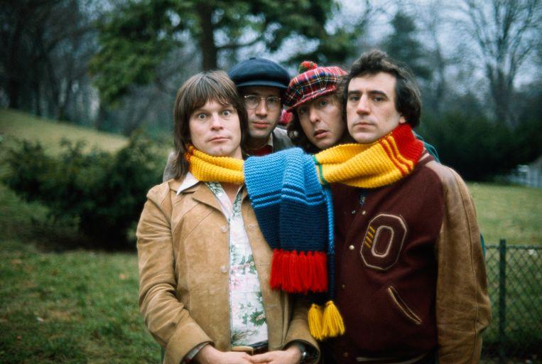 Leden van Monty Python in 1976: Terry Gilliam, Neil Innes, Eric Idle en Terry Jones. Beeld Getty