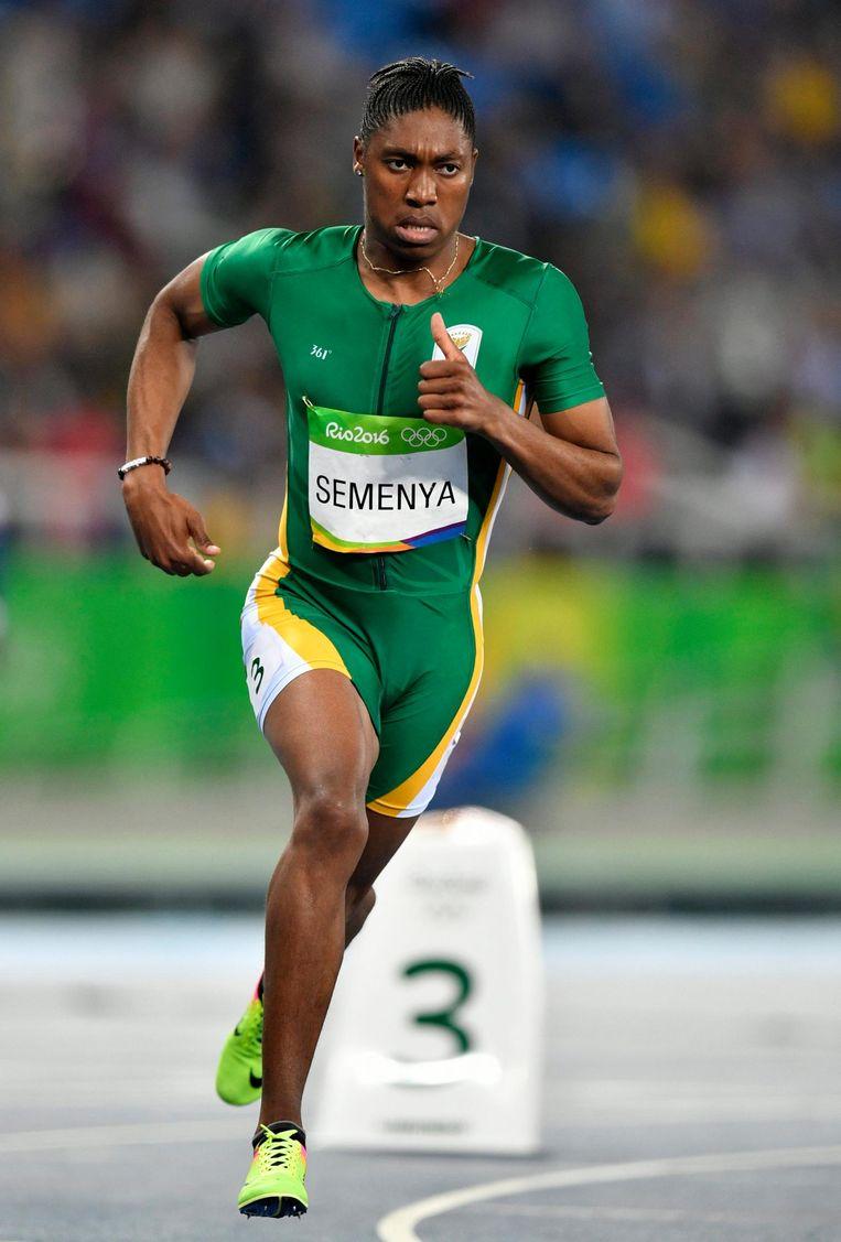 De Zuid-Afrikaanse atlete Caster Semaya bij de Spelen in 2016. Beeld epa