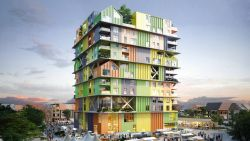 Groen (en paars en geel en oranje) licht voor gemeenschapshuis in Knokke