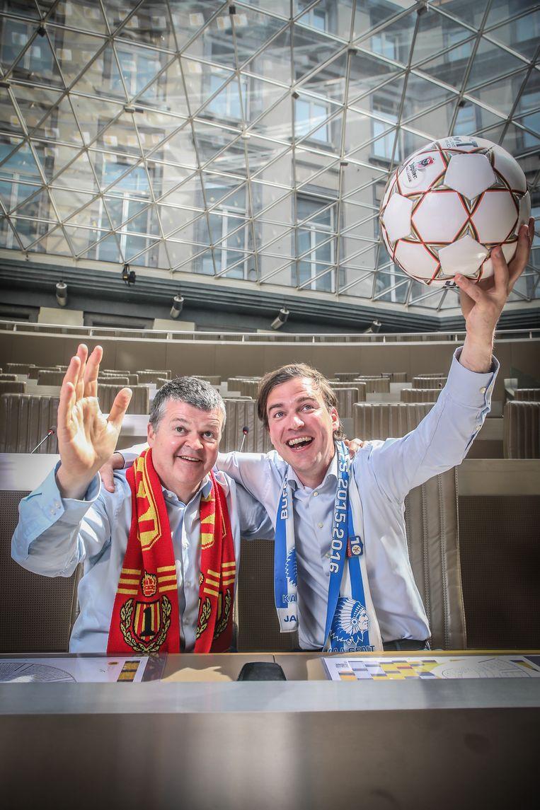 Gaat de beker naar KAA Gent of KV Mechelen? Mathias De Clercq en Bart Somers claimen hem allebei