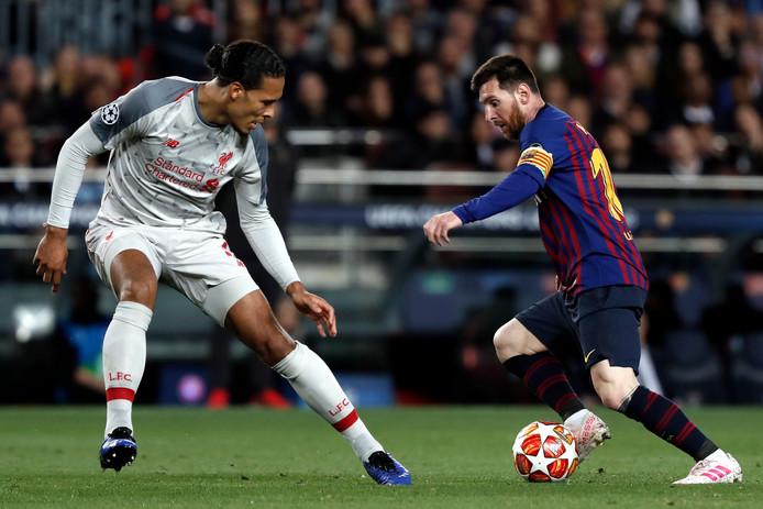 Virgil Van Dijk et Lionel Messi
