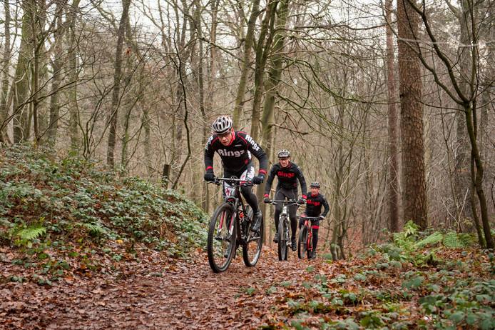 Het mountainbikeparcours bij Dorst, afgelopen december.