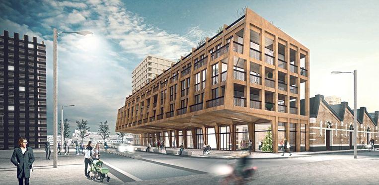 De appartementen zweven over het Limaplein