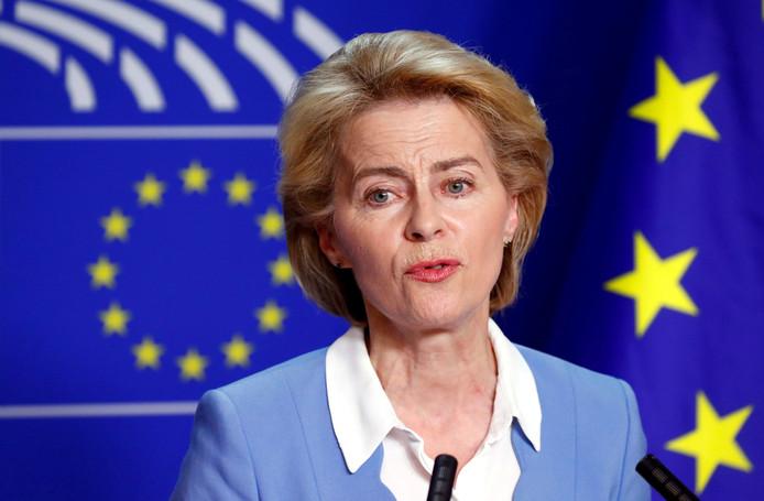 La nouvelle présidente de la Commission européenne Ursula von der Leyen.