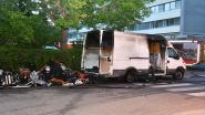 Bestelwagen brandt uit in buurt ziekenhuis Hoge Beuken