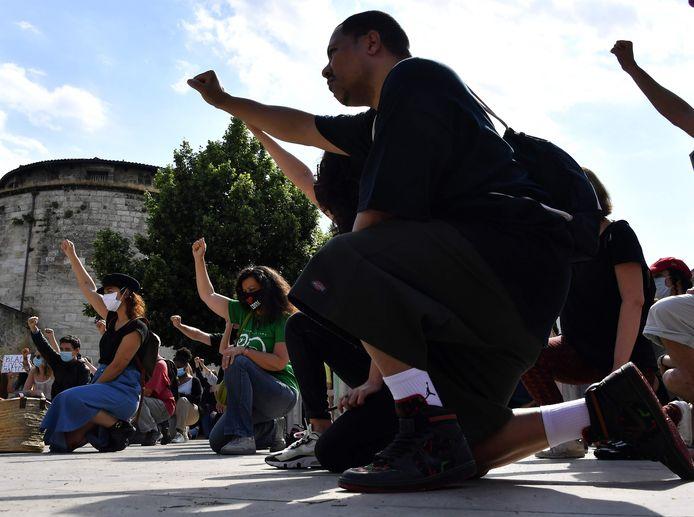 Manifestation de soutien à BLM à Bordeaux, 1er juin