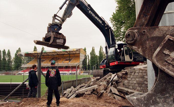 Sloop van het oude NAC-stadion aan de Beatrixstraat in Breda in 1996.