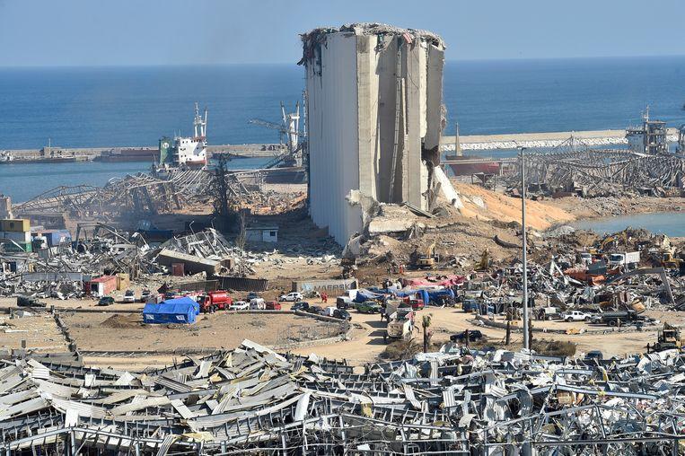 De ravage na de explosie in de Libanese haven is enorm. Beeld EPA