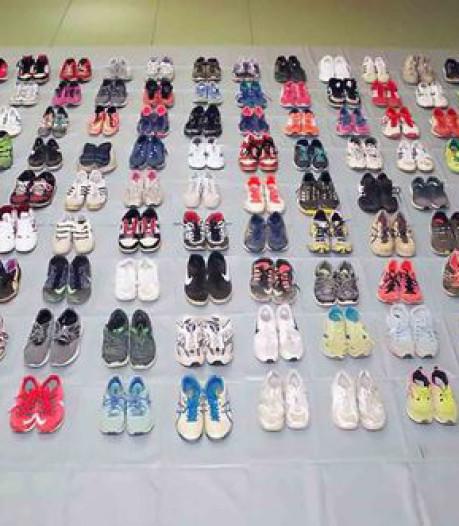 Japanner met sneakerfetish steelt 120 paar afgetrapte gympies