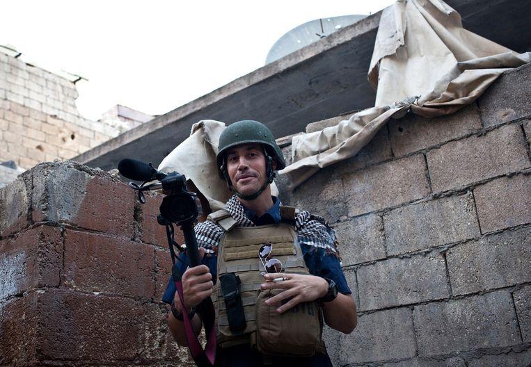 James Foley in Aleppo in 2012. Beeld anp