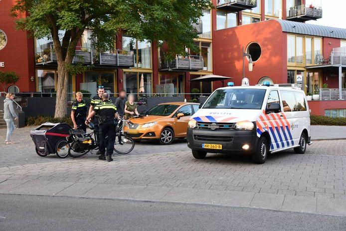 Het ongeluk gebeurde op de kruising Oostsingel/Oude Singel.