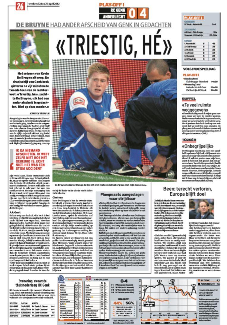 """""""Triestig"""", vertelde De Bruyne in Het Laatste Nieuws van 28 april 2012."""