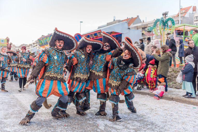 Een beeld van het carnaval in Heist.
