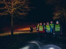 Katoentjestocht in Nijverdal, wandelen met volle maan