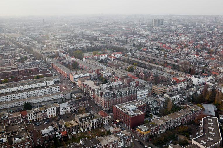 Uitzicht op Den Haag vanuit de Haagse Toren. Beeld null