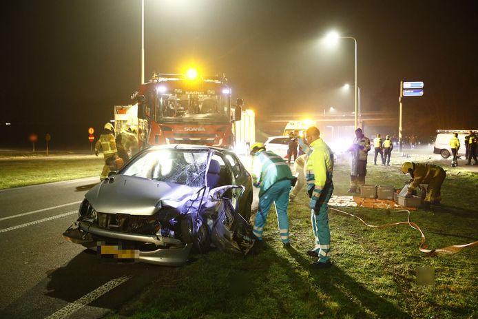 Ongeval op de Eperweg bij Nunspeet, aan de voet van de A28.l
